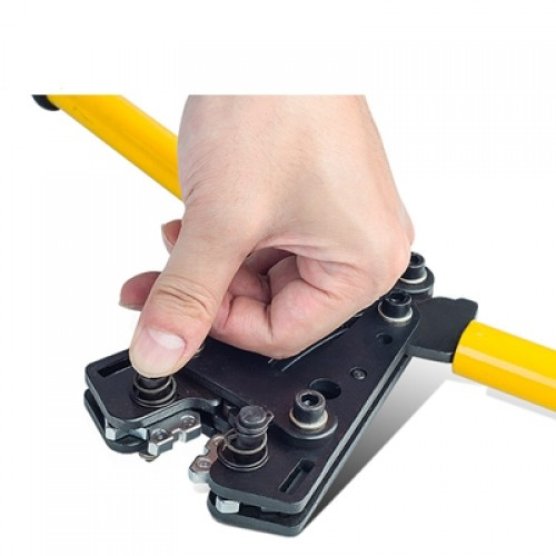 Hexagon Wire Crimping Plier JY Series range from 6-240mm² for crimping copper and aluminum lugs