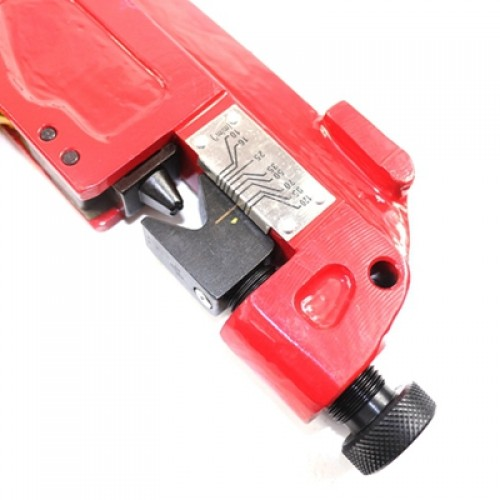 Indent Cable Crimping Tool TM-120 by adjusting the screw to choose the crimping size