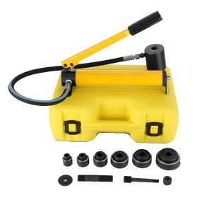 Hydraulic Knockout Punch Driver Kit SYK-8A/8B with 6 dies
